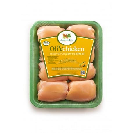 Olivové kuře - stehenní řízek ( bez kosti )